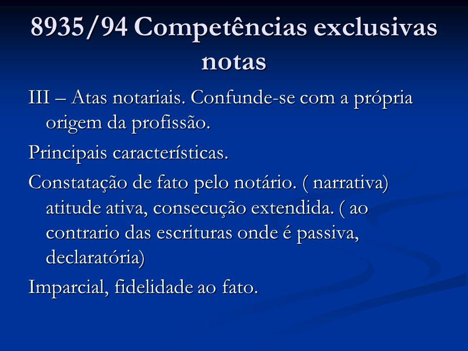 8935/94 Competências exclusivas notas