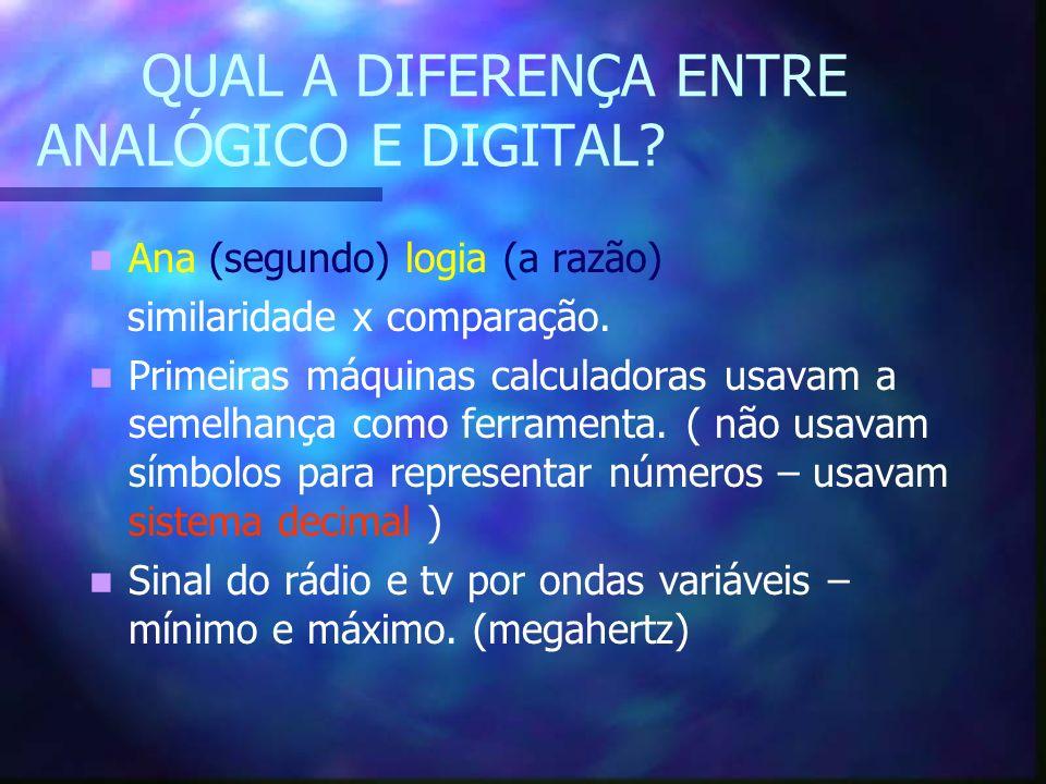 QUAL A DIFERENÇA ENTRE ANALÓGICO E DIGITAL