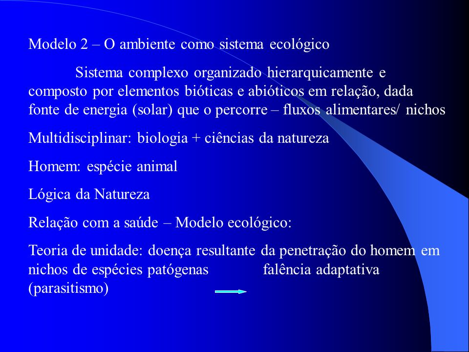 Modelo 2 – O ambiente como sistema ecológico