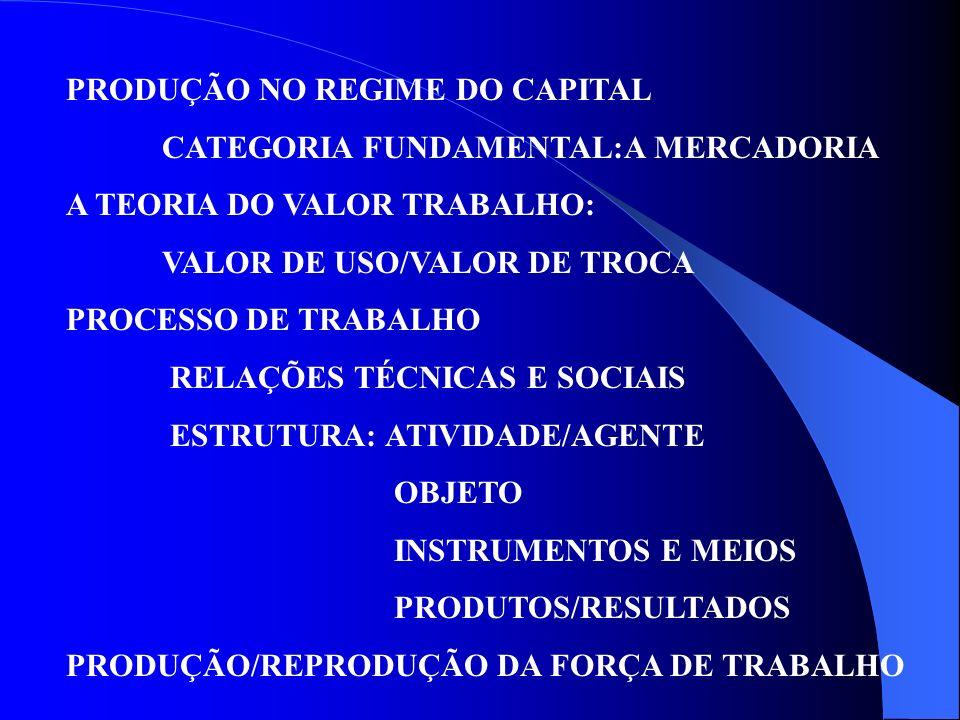 PRODUÇÃO NO REGIME DO CAPITAL
