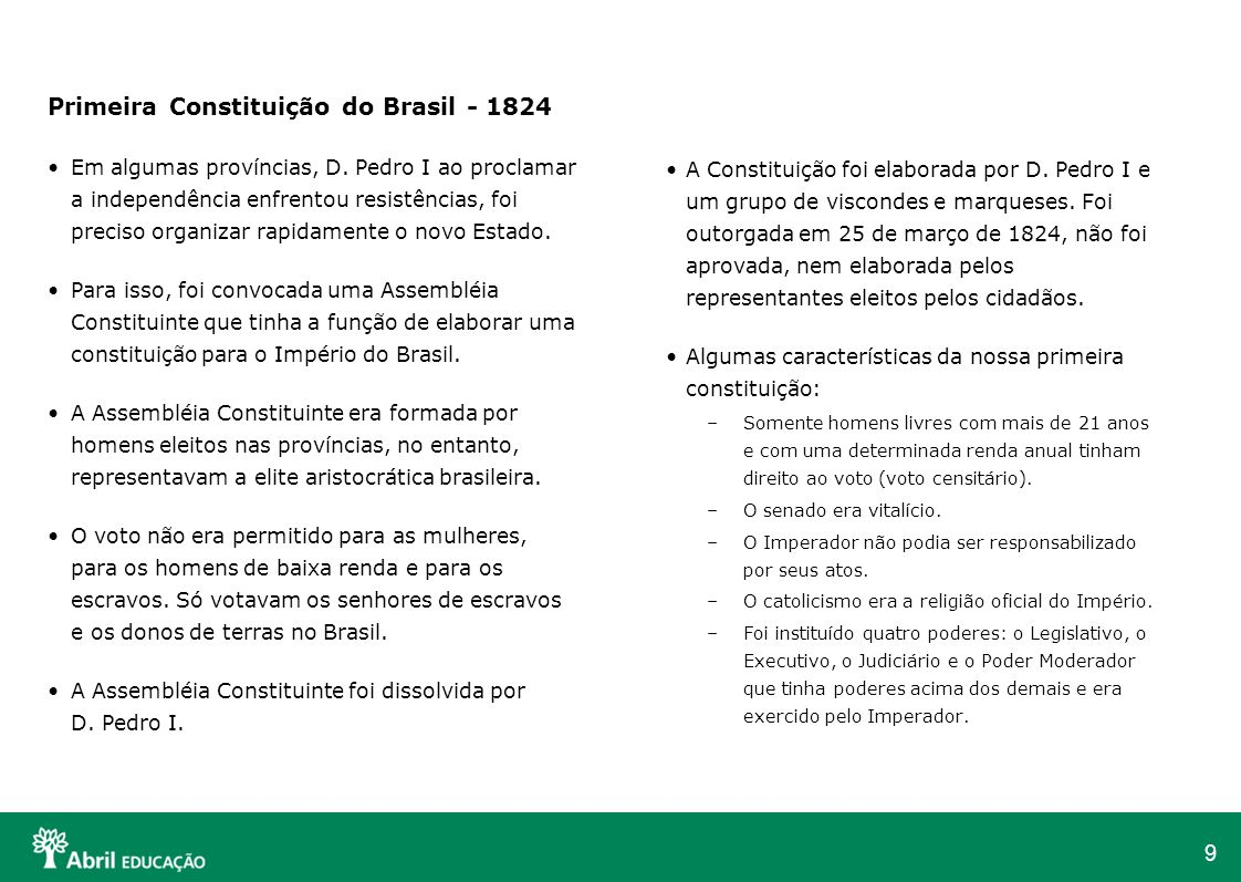 Primeira Constituição do Brasil - 1824