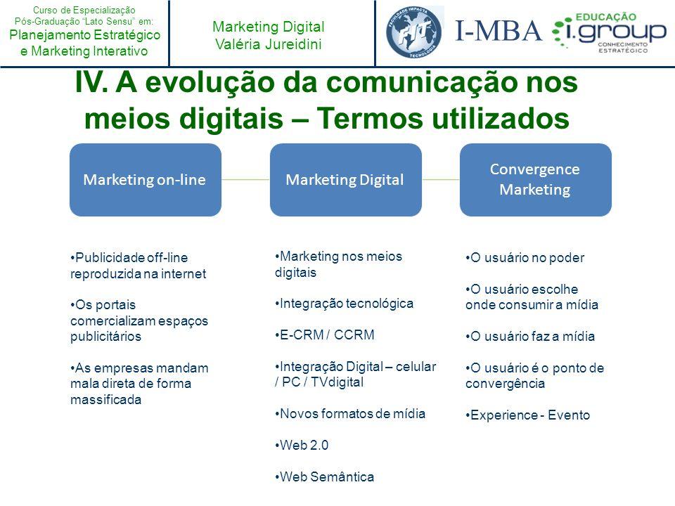 IV. A evolução da comunicação nos meios digitais – Termos utilizados