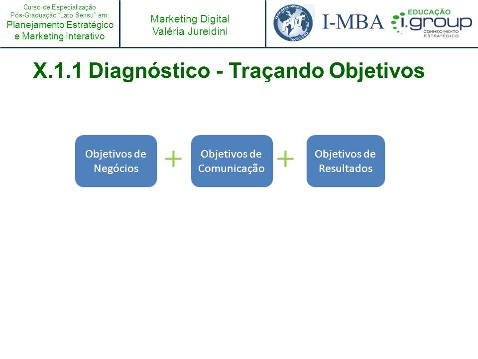 X.1.1 Diagnóstico - Traçando Objetivos