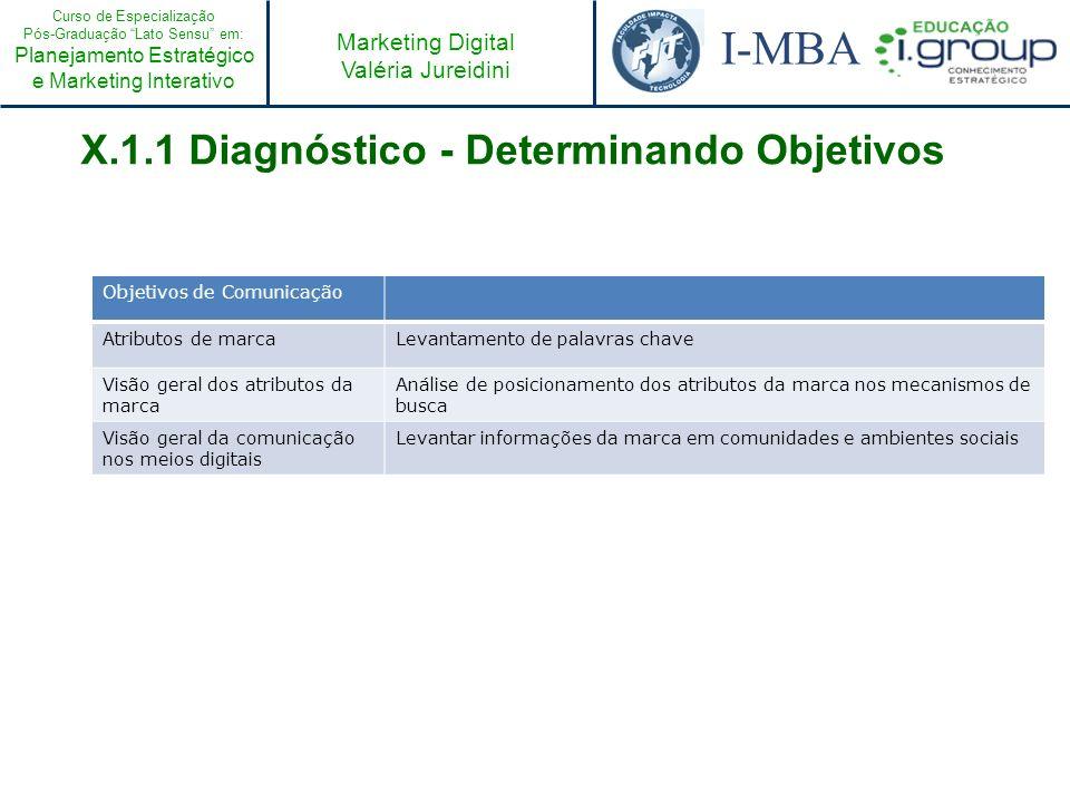 X.1.1 Diagnóstico - Determinando Objetivos