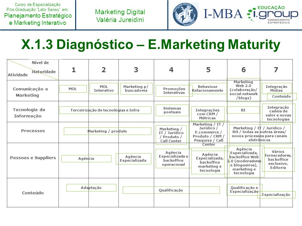 X.1.3 Diagnóstico – E.Marketing Maturity