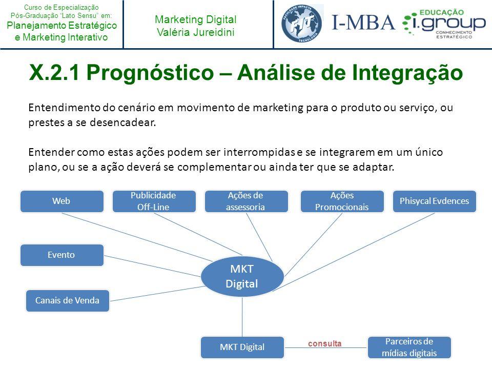 X.2.1 Prognóstico – Análise de Integração