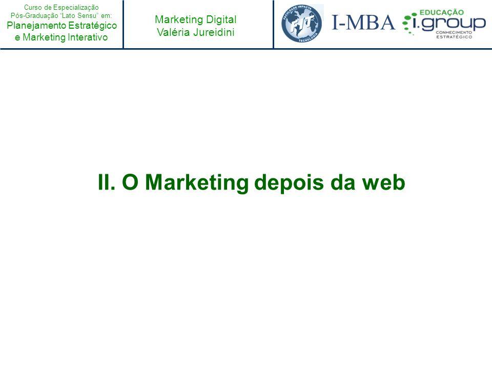II. O Marketing depois da web