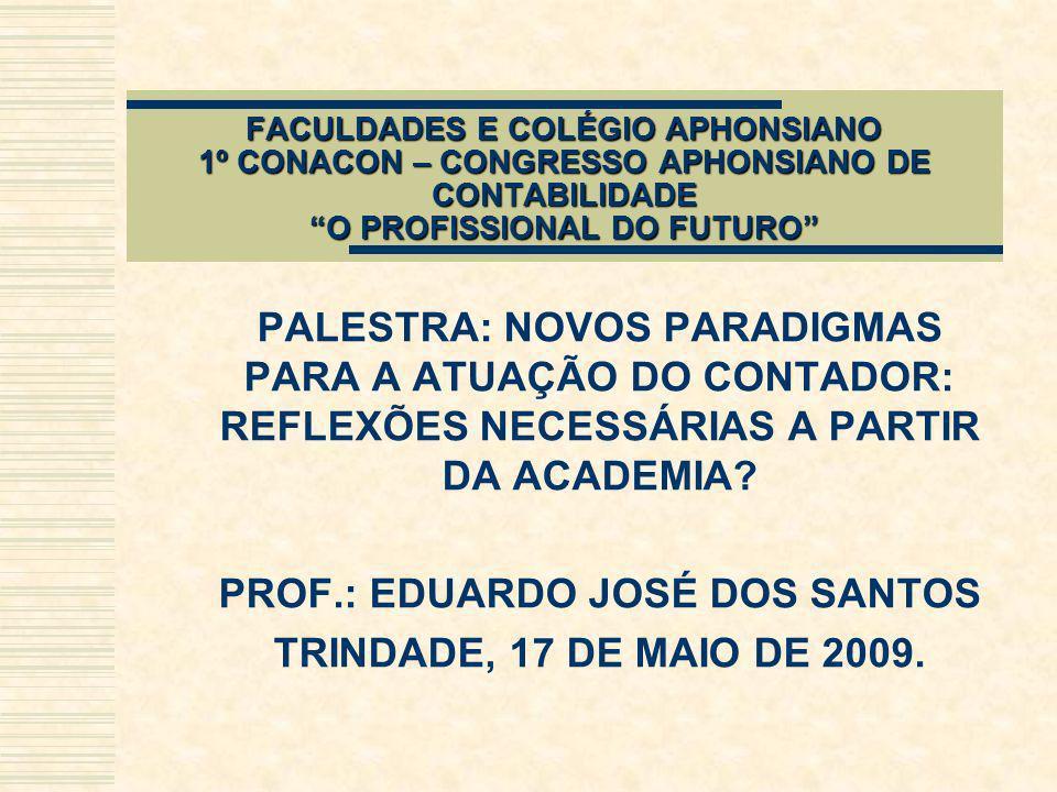 PROF.: EDUARDO JOSÉ DOS SANTOS