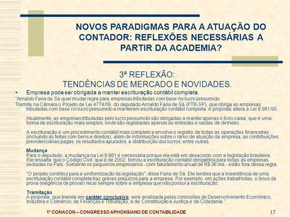 1º CONACON – CONGRESSO APHONSIANO DE CONTABILIDADE