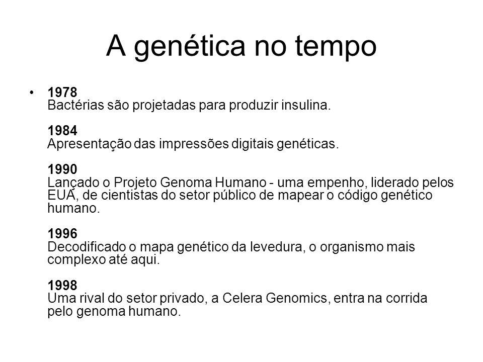 A genética no tempo