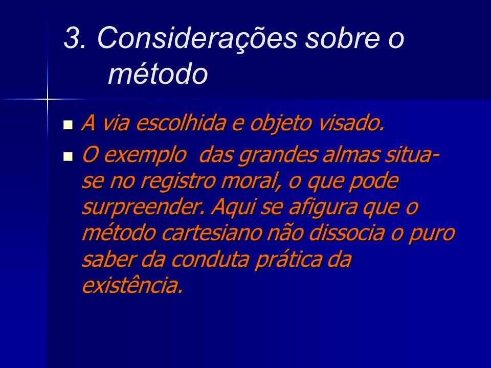 3. Considerações sobre o método
