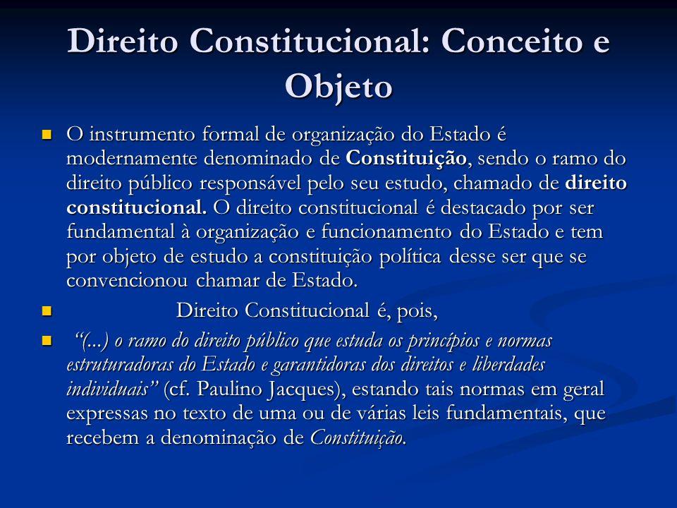 Direito Constitucional: Conceito e Objeto