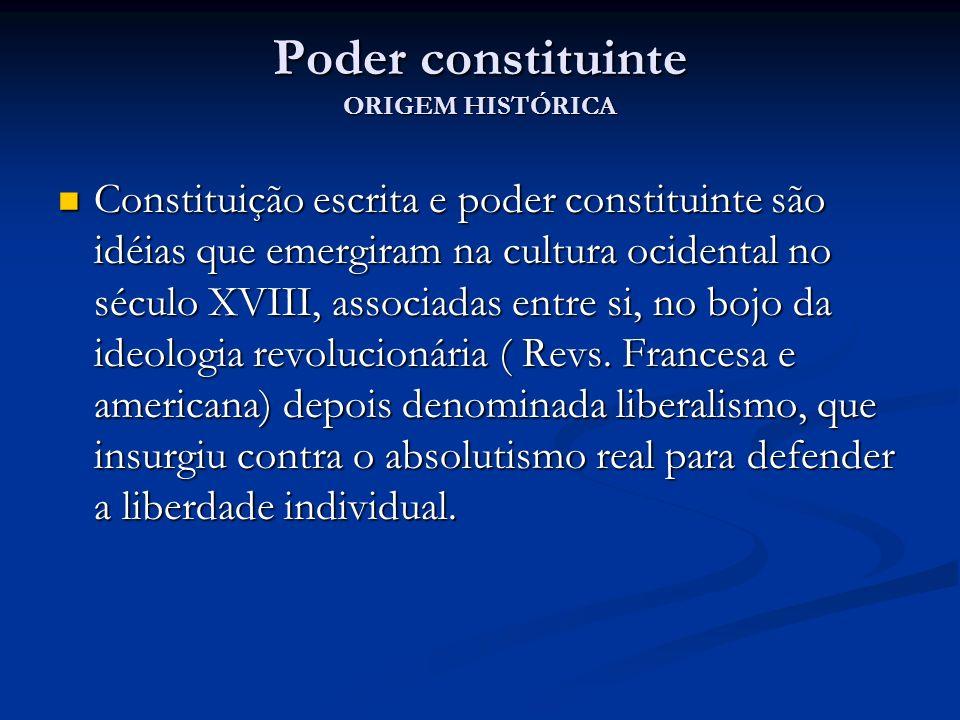 Poder constituinte ORIGEM HISTÓRICA