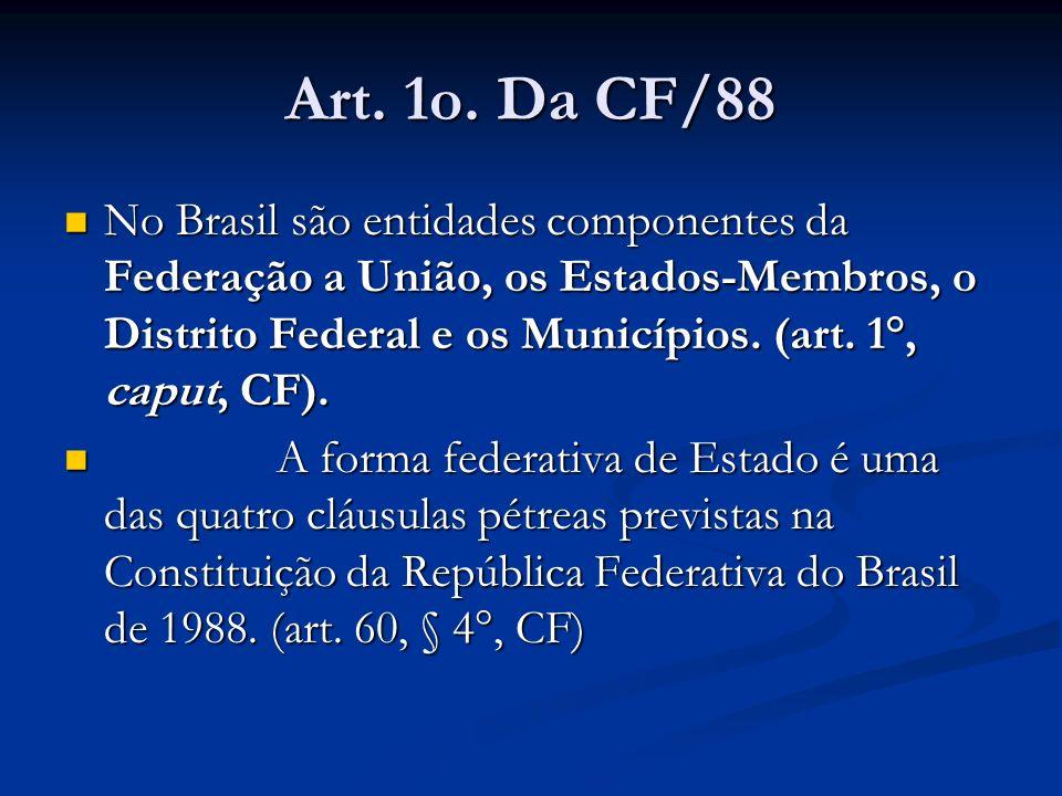 Art. 1o. Da CF/88