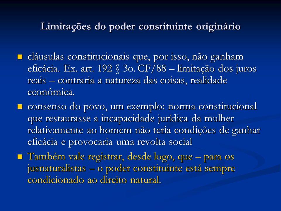 Limitações do poder constituinte originário