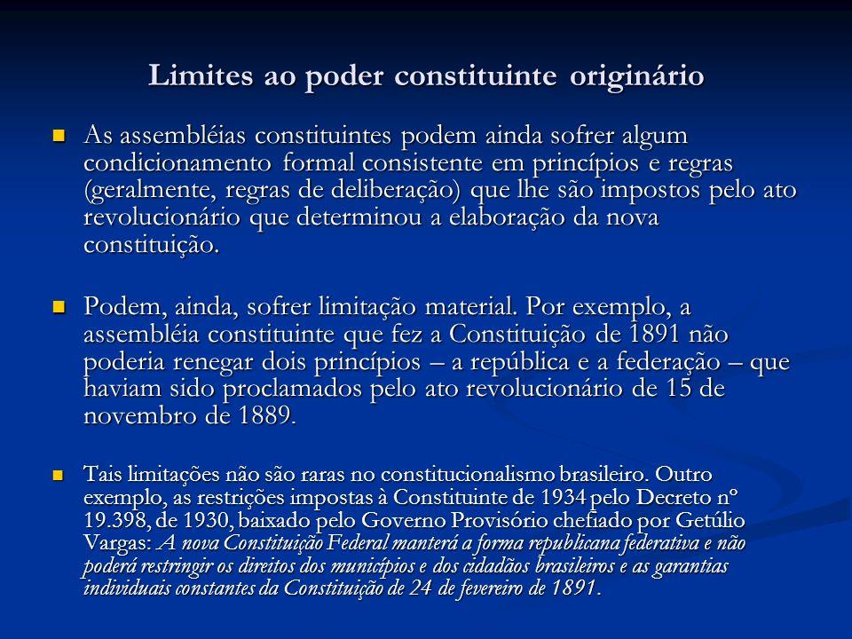 Limites ao poder constituinte originário