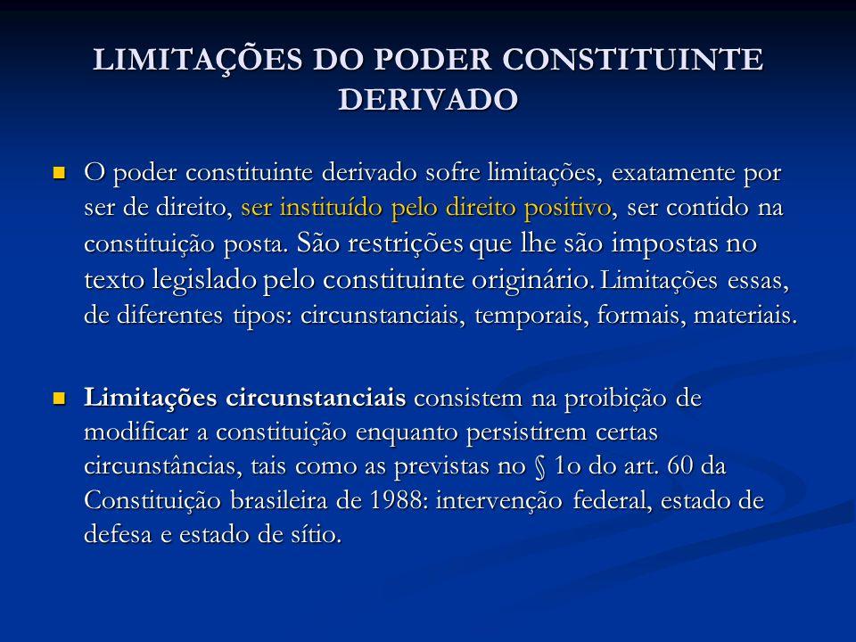LIMITAÇÕES DO PODER CONSTITUINTE DERIVADO