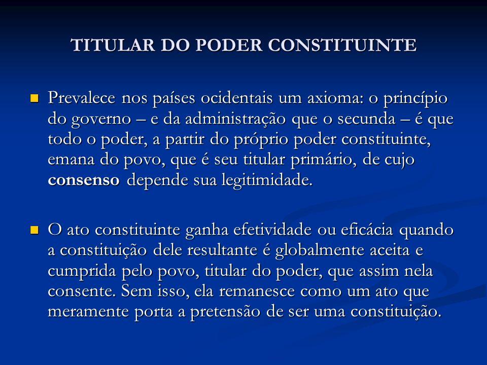 TITULAR DO PODER CONSTITUINTE