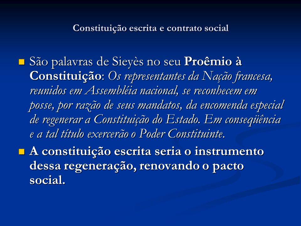Constituição escrita e contrato social