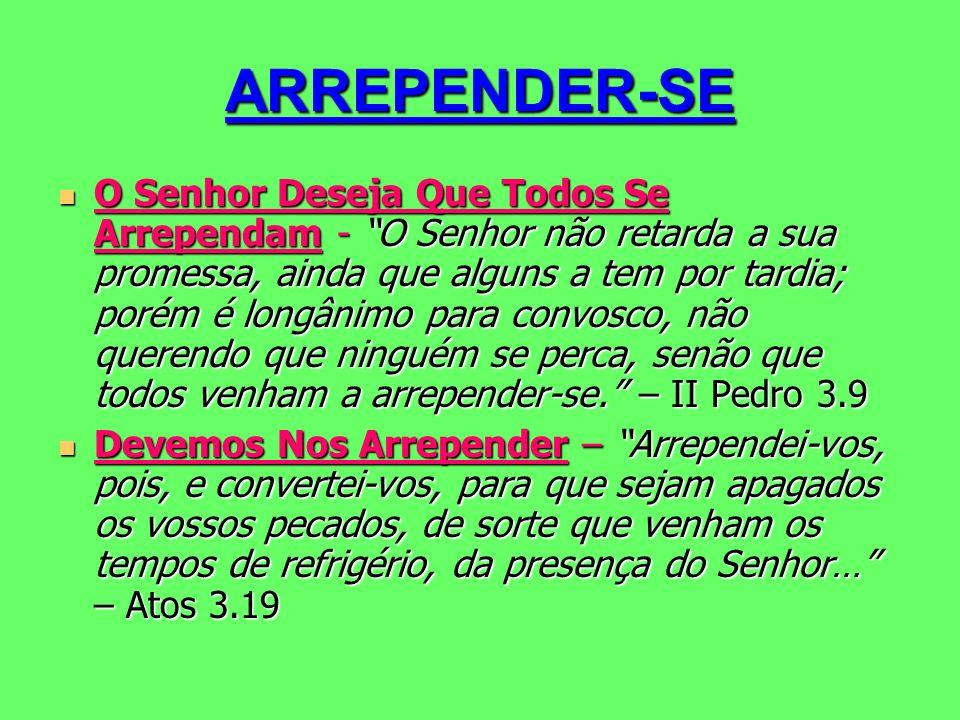 ARREPENDER-SE