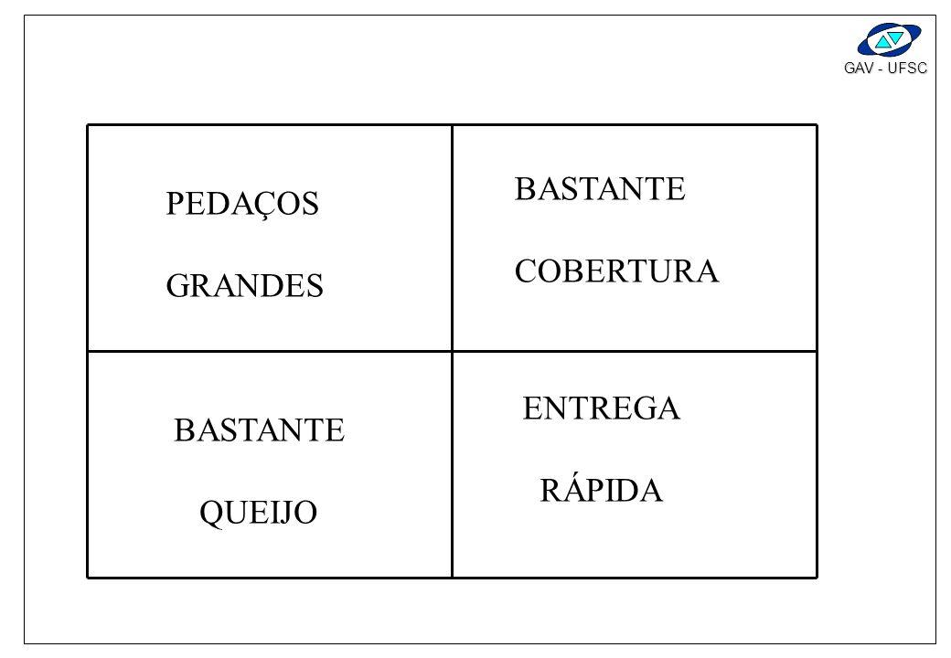 BASTANTE COBERTURA PEDAÇOS GRANDES ENTREGA RÁPIDA BASTANTE QUEIJO