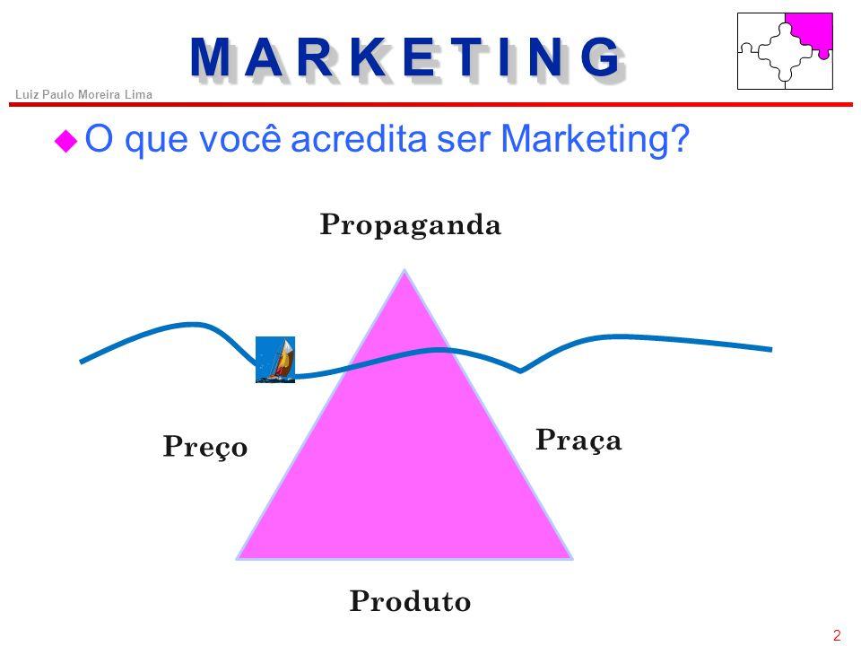 M A R K E T I N G O que você acredita ser Marketing Propaganda Praça