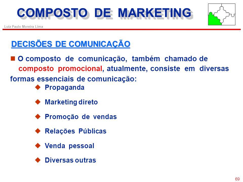 COMPOSTO DE MARKETING DECISÕES DE COMUNICAÇÃO