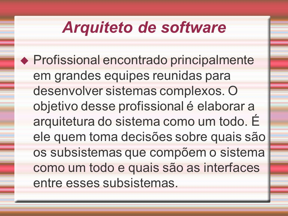 Arquiteto de software