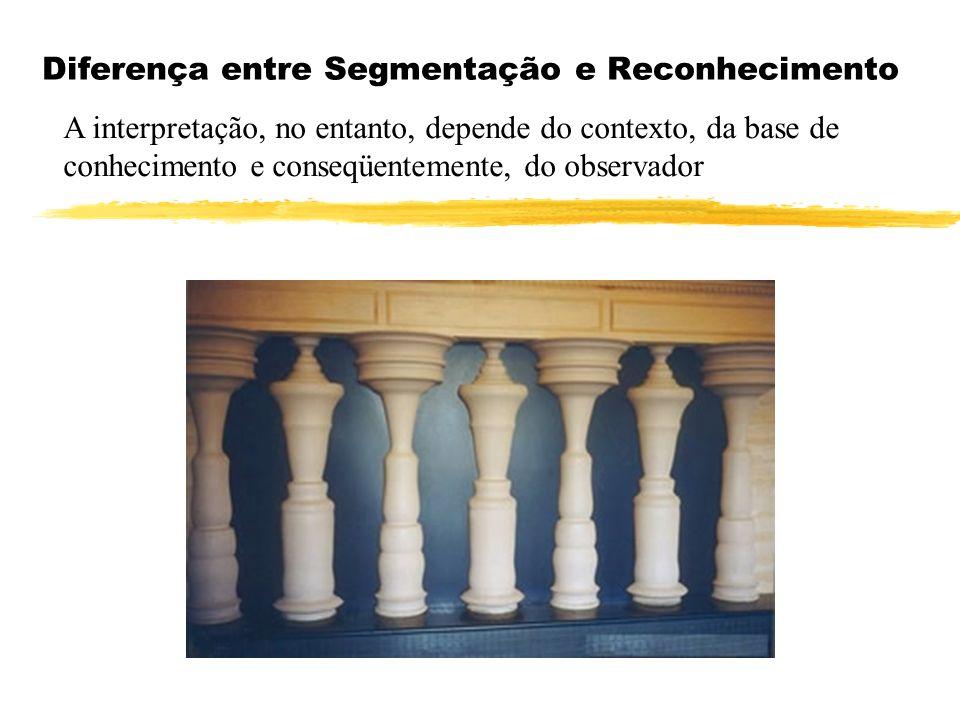 Diferença entre Segmentação e Reconhecimento