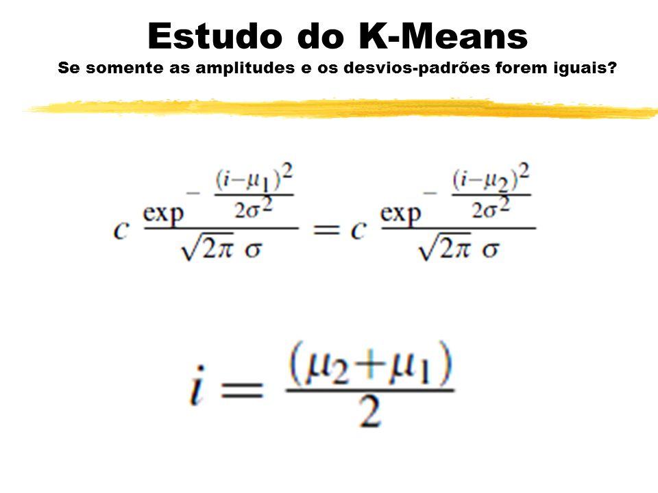 Estudo do K-Means Se somente as amplitudes e os desvios-padrões forem iguais