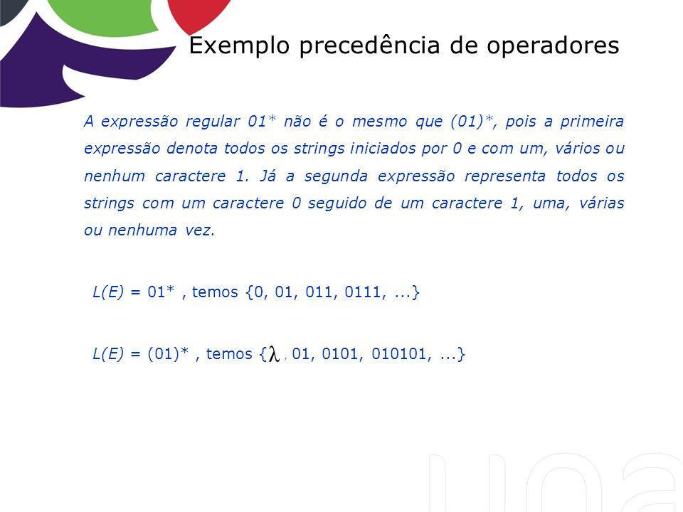 Exemplo precedência de operadores