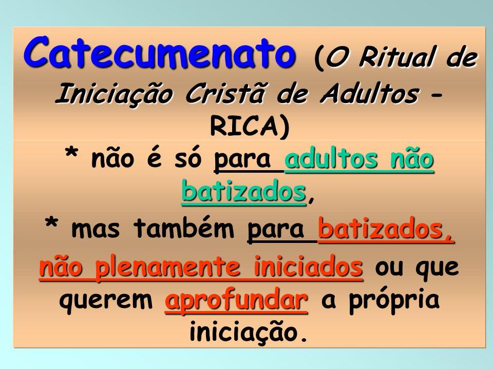 Catecumenato (O Ritual de Iniciação Cristã de Adultos - RICA)
