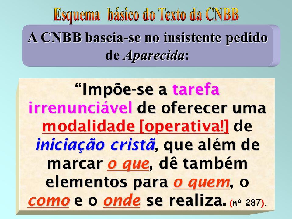 Esquema básico do Texto da CNBB
