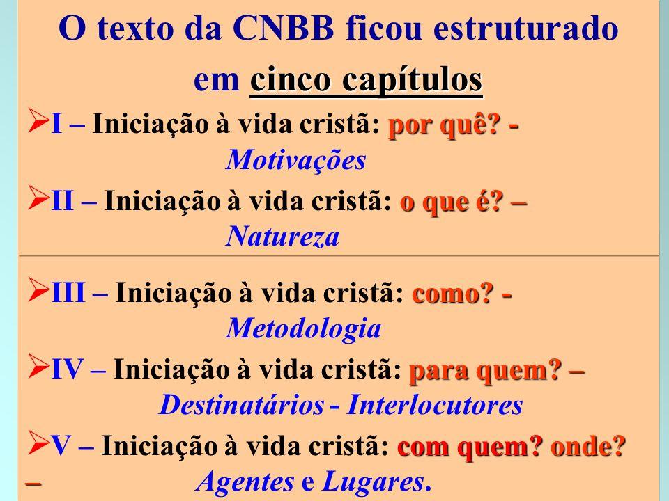 O texto da CNBB ficou estruturado