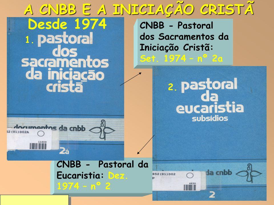 A CNBB E A INICIAÇÃO CRISTÃ Desde 1974