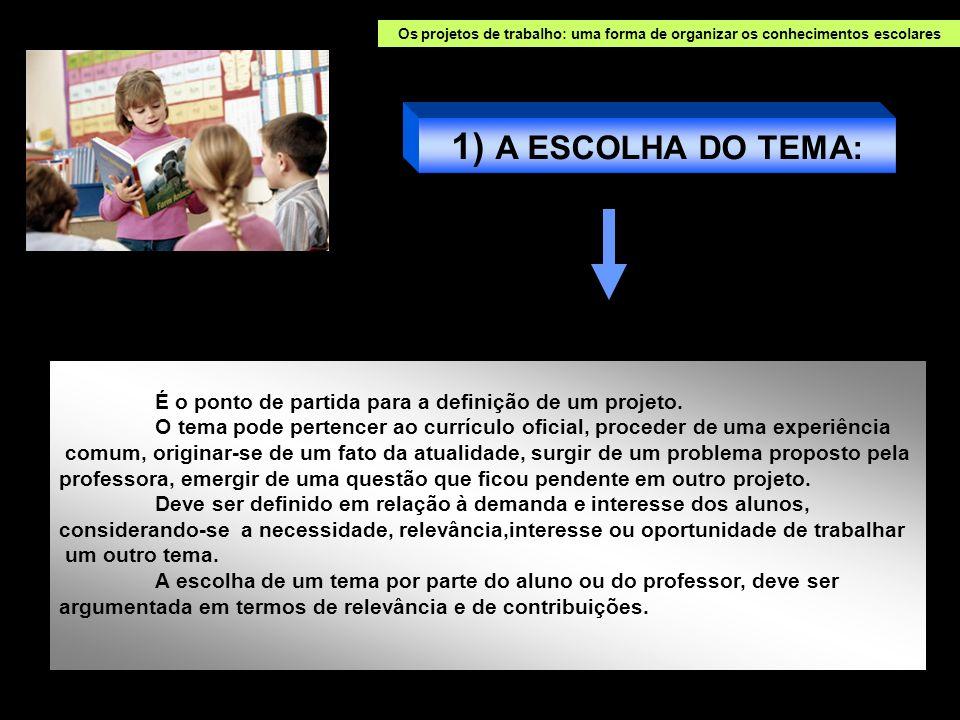 Os projetos de trabalho: uma forma de organizar os conhecimentos escolares