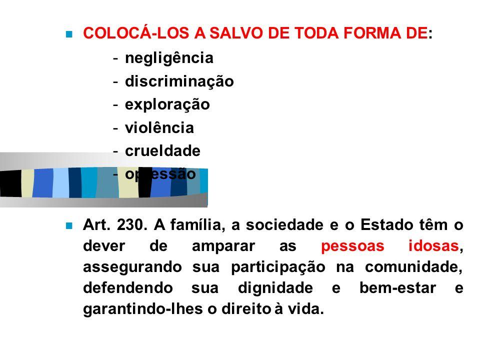 COLOCÁ-LOS A SALVO DE TODA FORMA DE:
