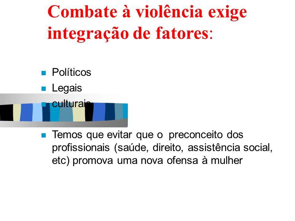 Combate à violência exige integração de fatores: