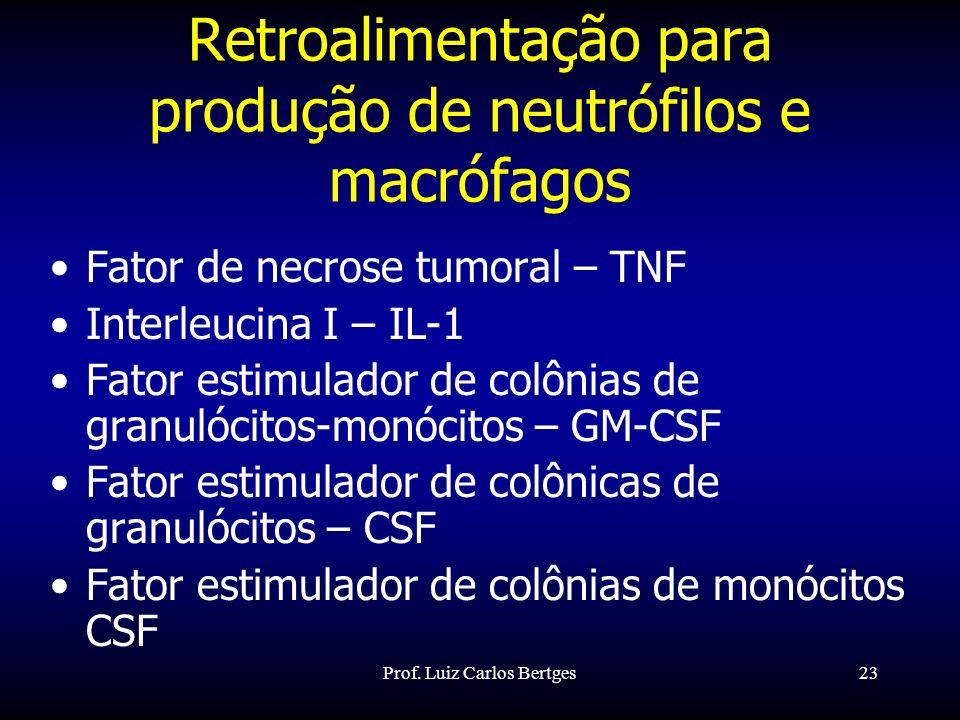 Retroalimentação para produção de neutrófilos e macrófagos