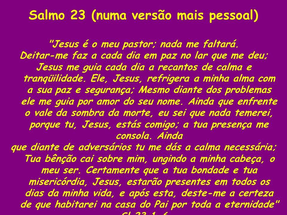 Salmo 23 (numa versão mais pessoal)