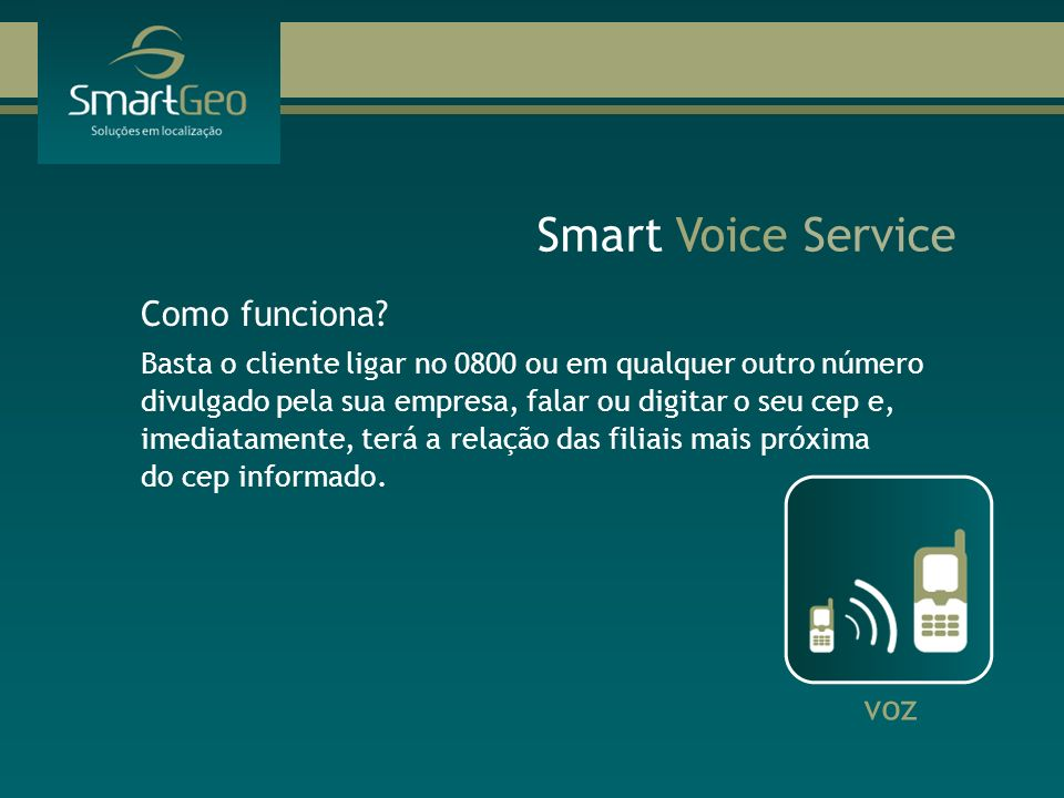 Smart Voice Service Como funciona voz