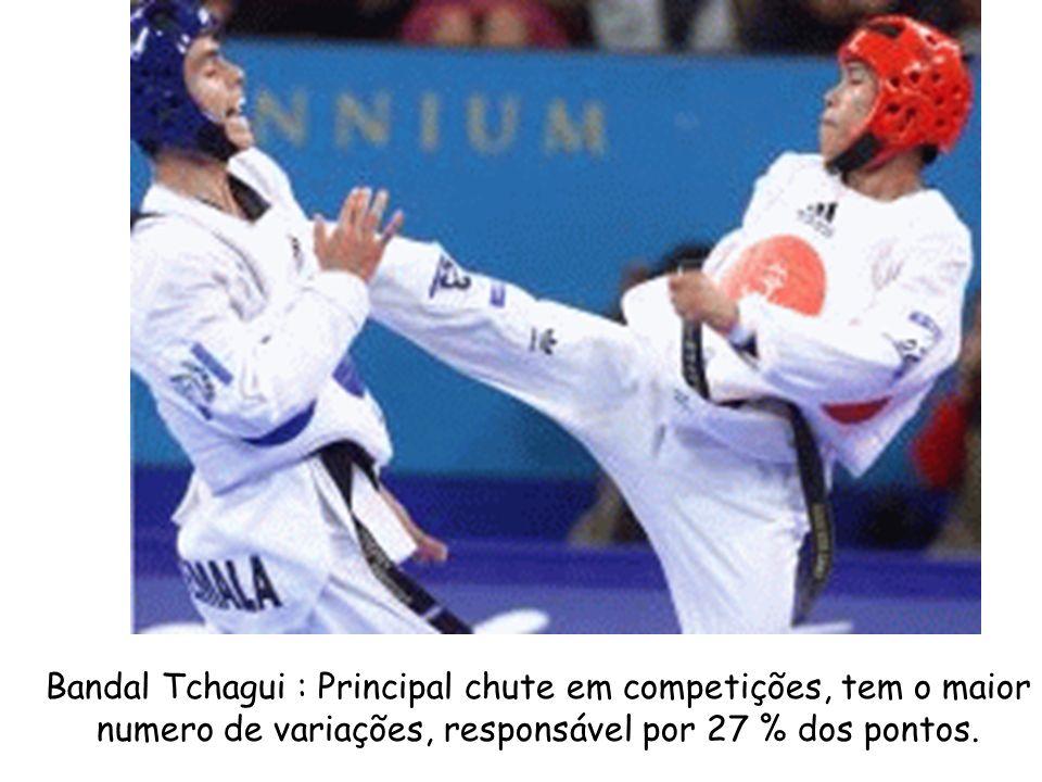 Bandal Tchagui : Principal chute em competições, tem o maior