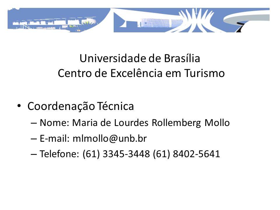 Universidade de Brasília Centro de Excelência em Turismo