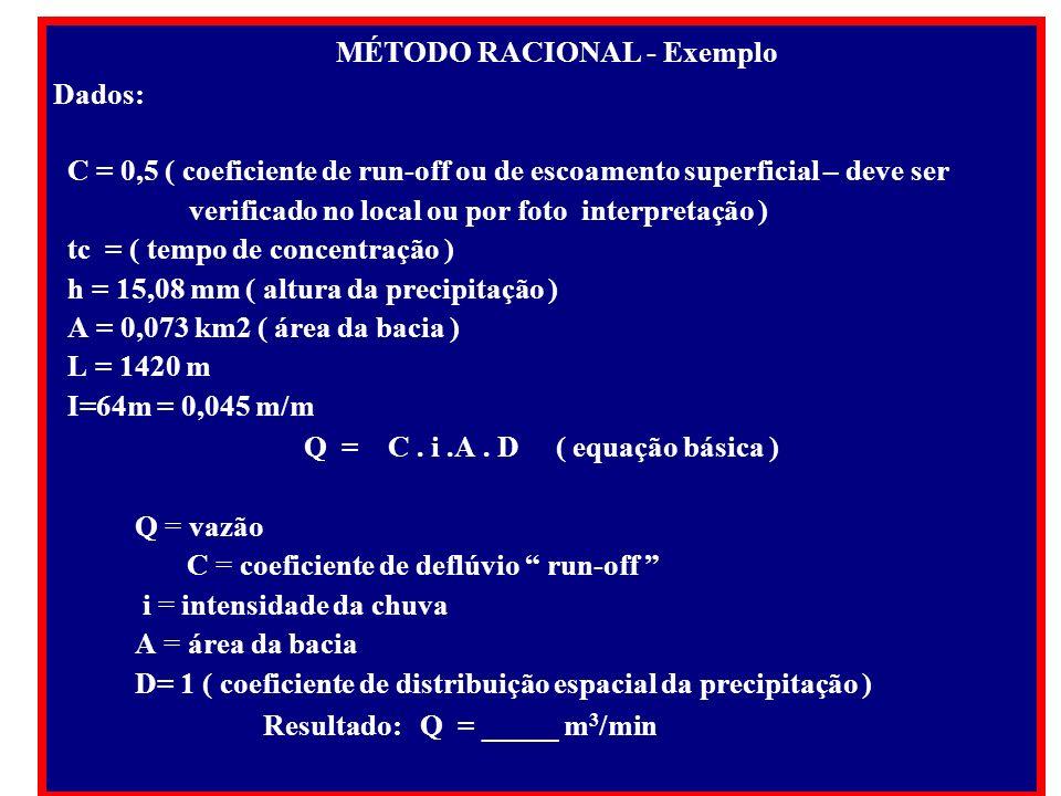 Q = C . i .A . D ( equação básica )