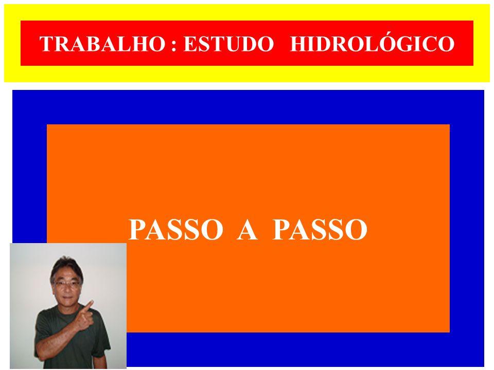 TRABALHO : ESTUDO HIDROLÓGICO