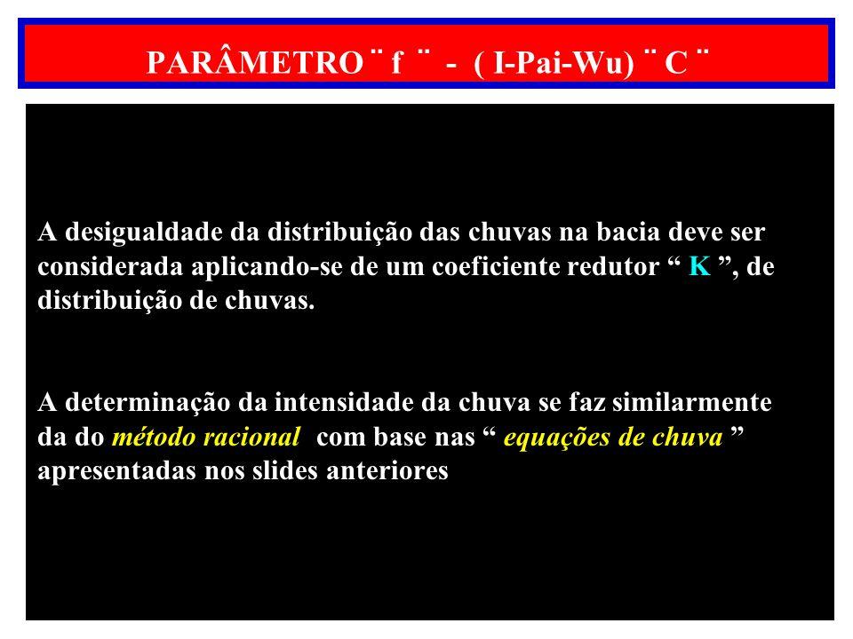PARÂMETRO ¨ f ¨ - ( I-Pai-Wu) ¨ C ¨