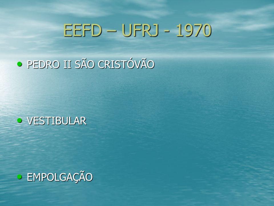 EEFD – UFRJ - 1970 PEDRO II SÃO CRISTÓVÃO VESTIBULAR EMPOLGAÇÃO