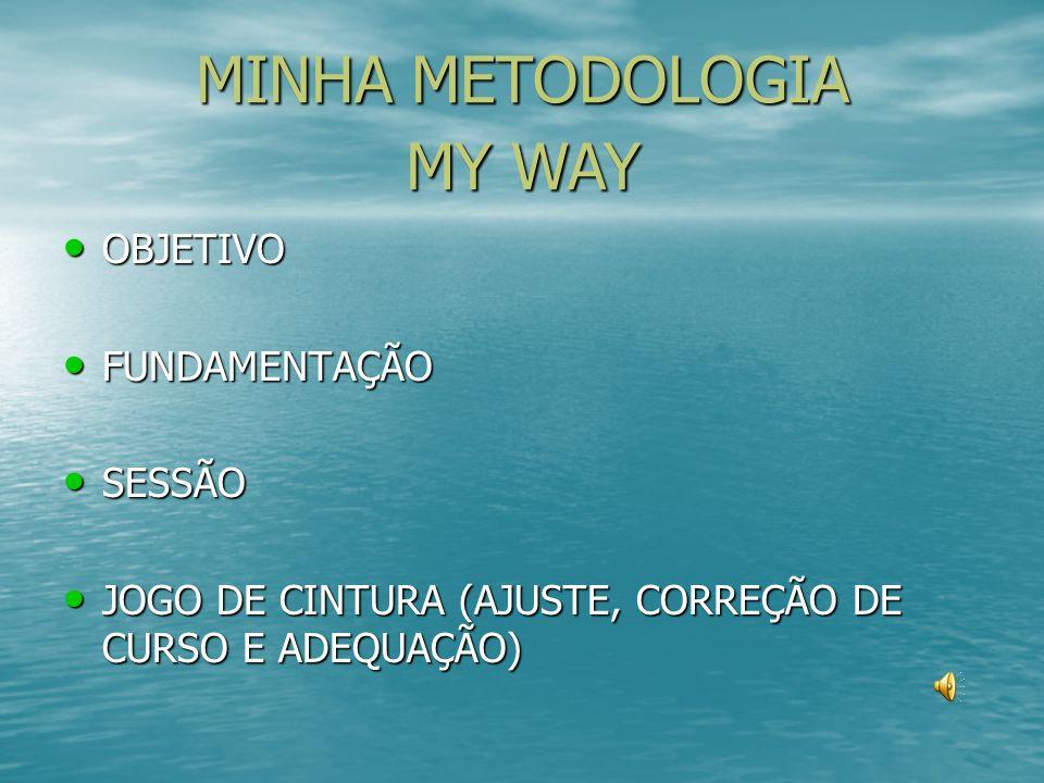 MINHA METODOLOGIA MY WAY OBJETIVO FUNDAMENTAÇÃO SESSÃO