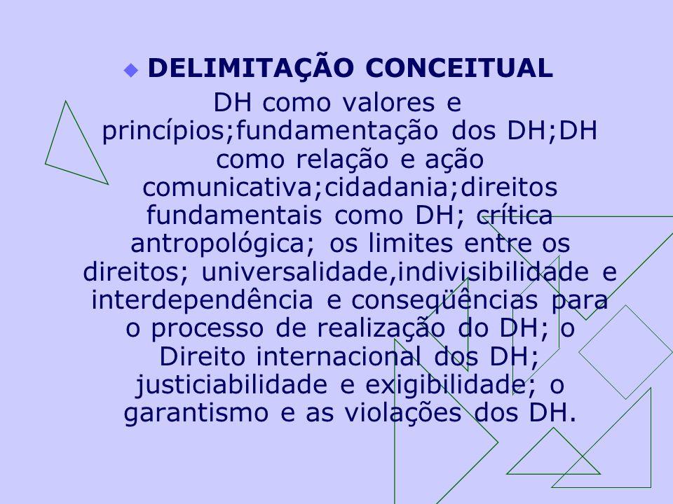 DELIMITAÇÃO CONCEITUAL