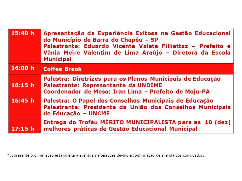Palestra: Diretrizes para os Planos Municipais de Educação